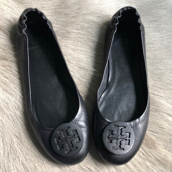 00250369c Tory Burch Shoes - Tory Burch Black Minnie Travel Ballet Flats 10